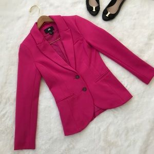 H&M hot pink fitted blazer